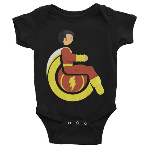 Adaptive Mr. Marvel (Shazam) Baby Onesie