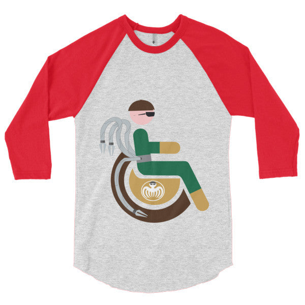 Men's Adaptive Doctor Octopus 3/4 Sleeve Raglan Shirt