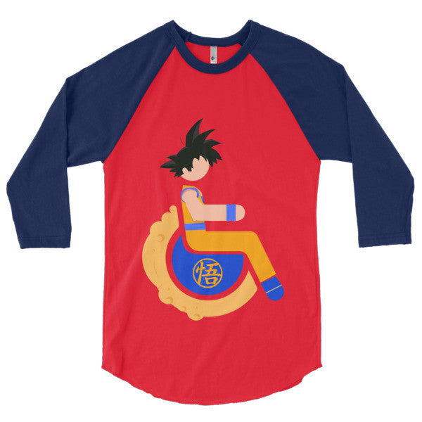 Men's Adaptive Goku 3/4 Sleeve Raglan Shirt
