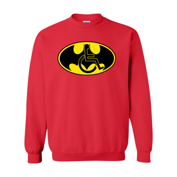 Men's Adaptive Batman Symbol Crewneck Sweatshirt
