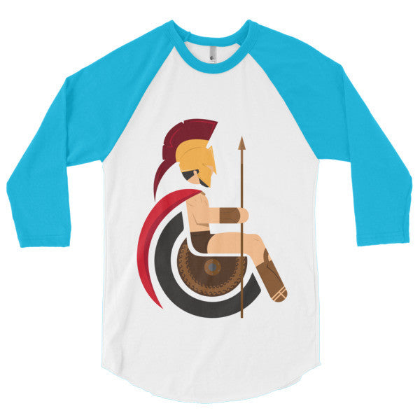 Men's Adaptive King Leonidas 3/4 Sleeve Raglan Shirt