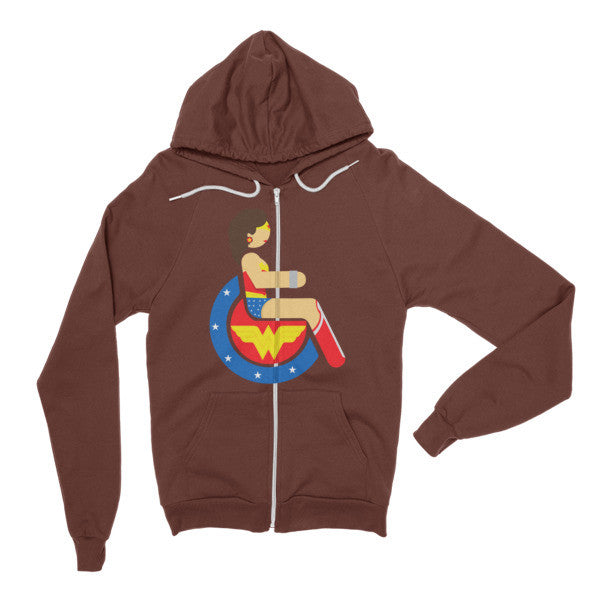 Adaptive Wonder Woman Flex Zip Hoodie