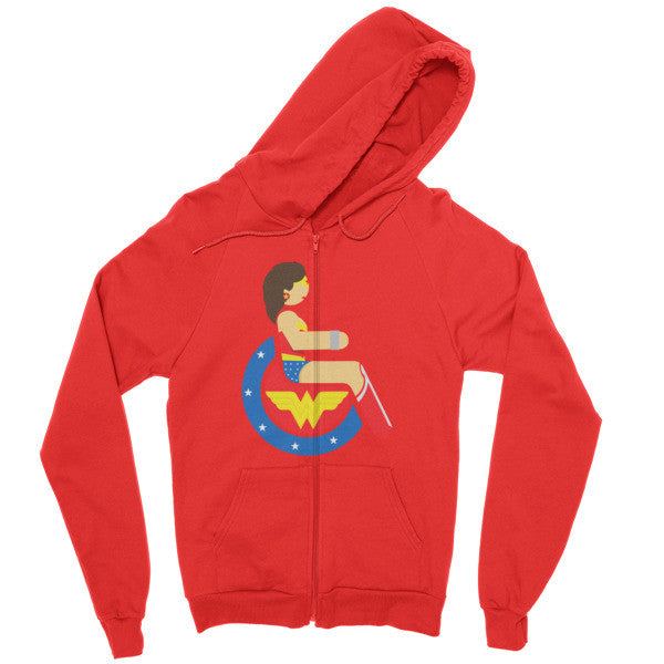 Men's Adaptive Wonder Woman Zip Hoodie