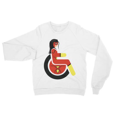 Adaptive Spider-Woman Raglan Sweater