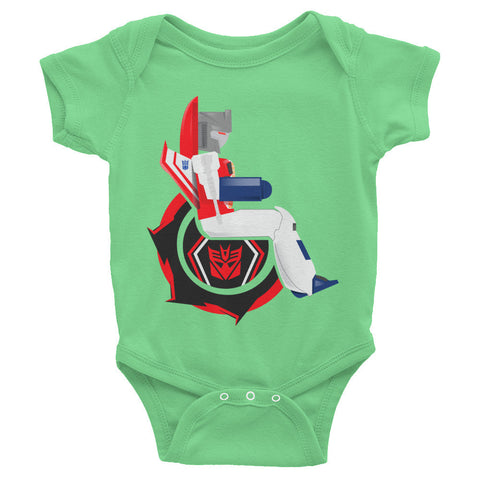 Adaptive Starscream Baby Onesie