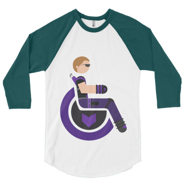 Men's Adaptive Hawkeye 3/4 Sleeve Raglan Shirt