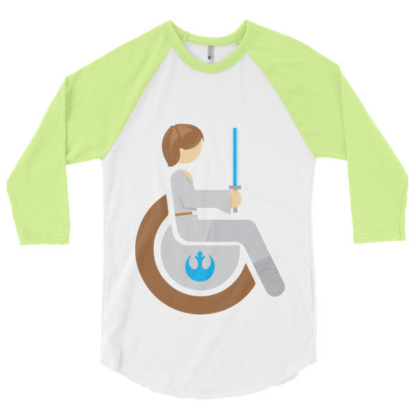Men's Adaptive Luke Skywalker 3/4 Sleeve Raglan Shirt