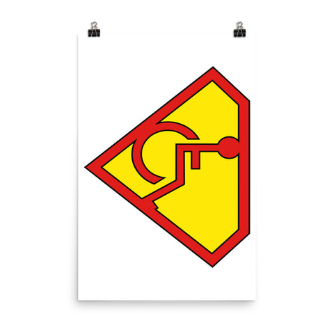 Adaptive S-Man Logo 24x36 Photo Paper Poster
