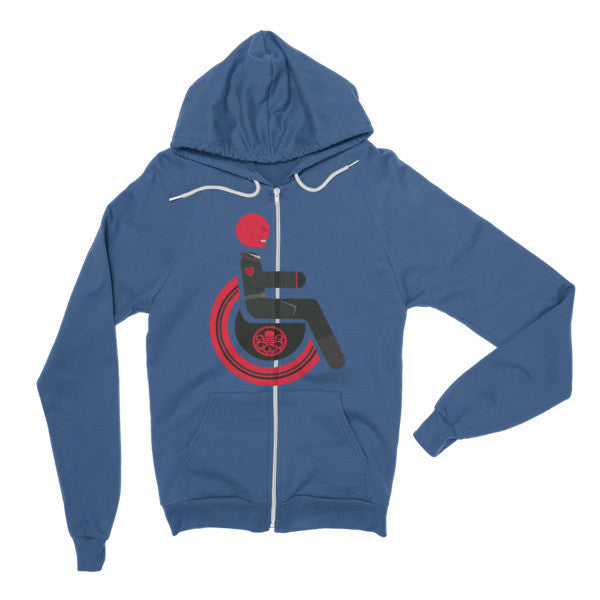 Adaptive Red Skull Flex Zip Hoodie