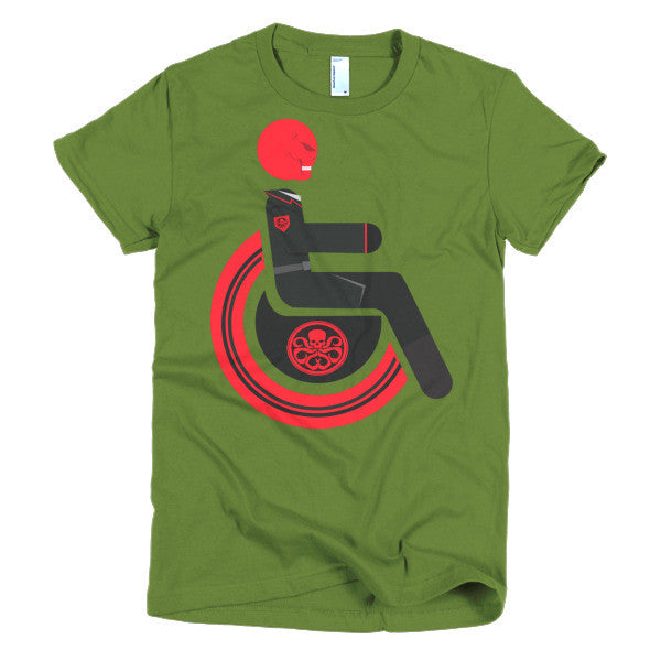 Women's Adaptive Red Skull T-Shirt (S-L)