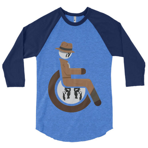 Men's Adaptive Rorschach 3/4 Sleeve Raglan Shirt
