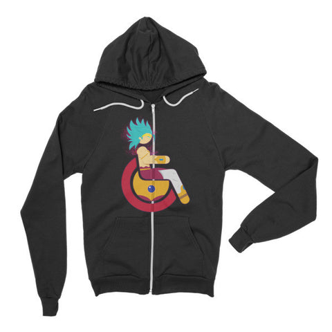 Adaptive Restrained Super Saiyan Broly Flex Zip Hoodie