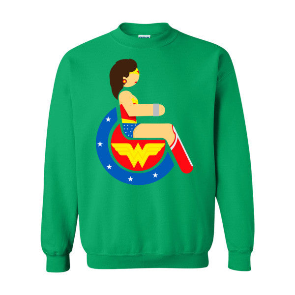 Men's Adaptive Wonder Woman Crewneck Sweatshirt