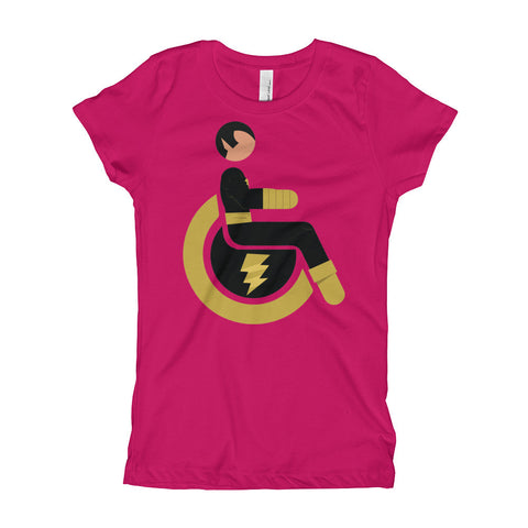 Girl's Youth Adaptive Black Adam T-Shirt (XS-XL)