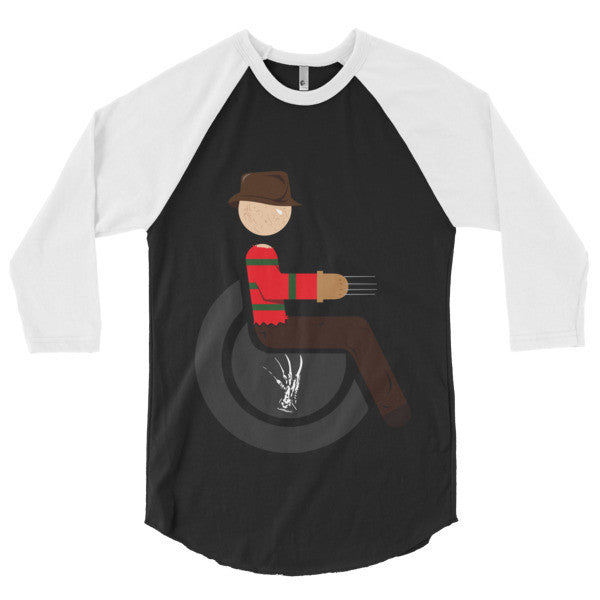 Men's Adaptive Freddy Krueger 3/4 Sleeve Raglan Shirt