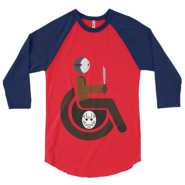 Men's Adaptive Jason Voorhees 3/4 Sleeve Raglan Shirt