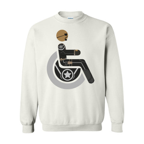 Men's Adaptive Nick Fury Crewneck Sweatshirt