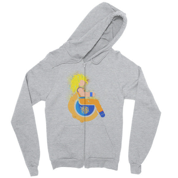 Men's Adaptive Super Saiyan 3 Goku Zip Hoodie