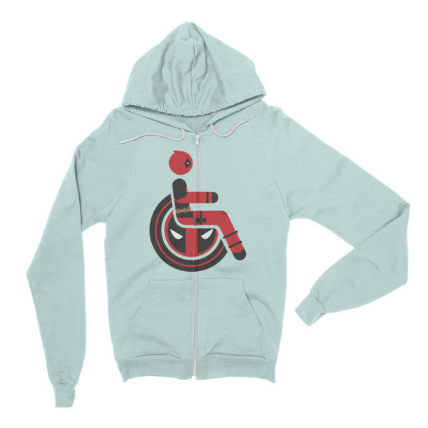 Adaptive Deadpool Flex Zip Hoodie