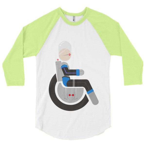 Men's Adaptive Mr. Freeze 3/4 Sleeve Raglan Shirt