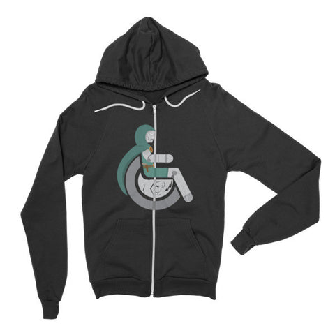 Adaptive Doctor Doom Flex Zip Hoodie