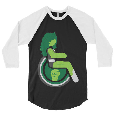 Men's Adaptive She-Hulk 3/4 Sleeve Raglan Shirt