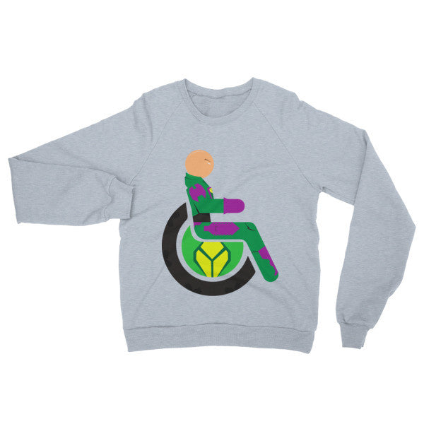 Adaptive Lex Luthor Raglan Sweater
