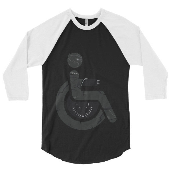 Men's Adaptive Black Panther 3/4 Sleeve Raglan Shirt