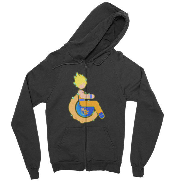 Men's Adaptive Super Saiyan 1 Goku Zip Hoodie
