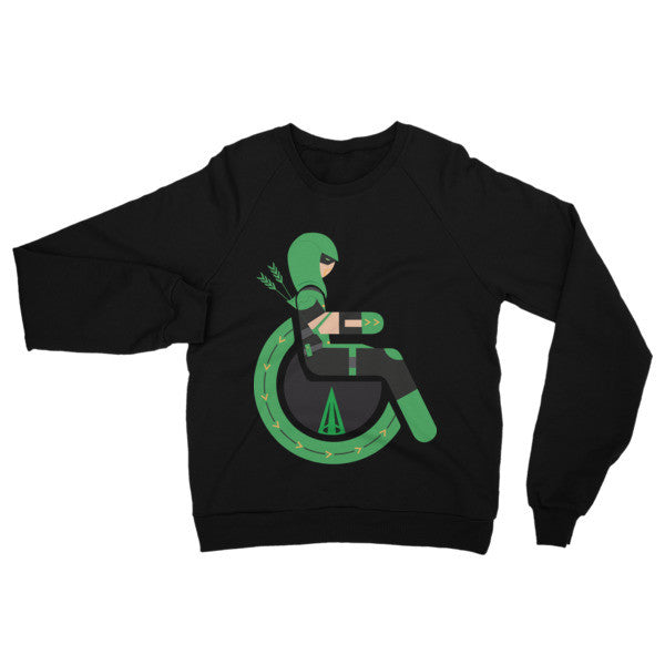 Adaptive Green Arrow Raglan Sweater