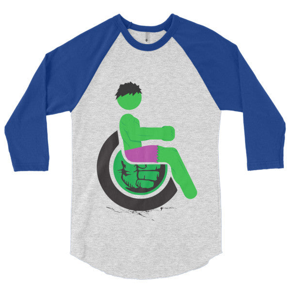 Men's Adaptive Hulk 3/4 Sleeve Raglan Shirt