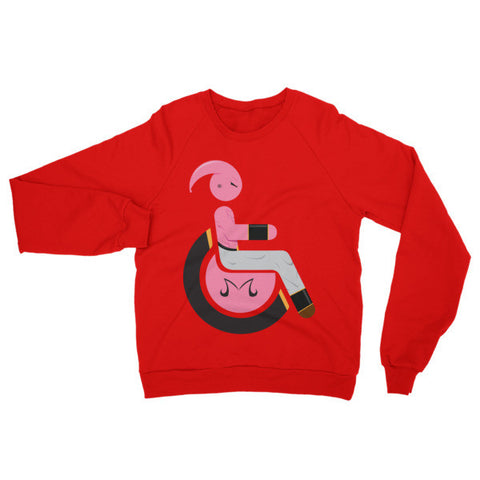Adaptive Kid Buu (Majin Buu) Raglan Sweater