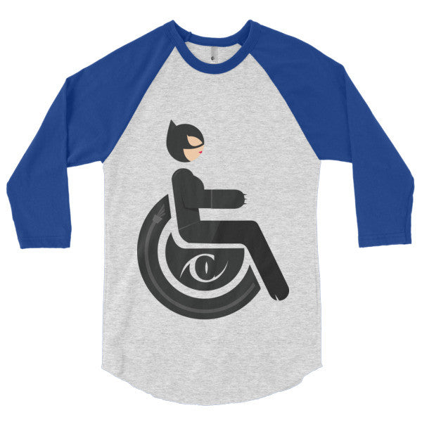 Men's Adaptive Catwoman 3/4 Sleeve Raglan Shirt