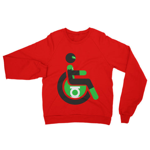 Adaptive Green Lantern Raglan Sweater