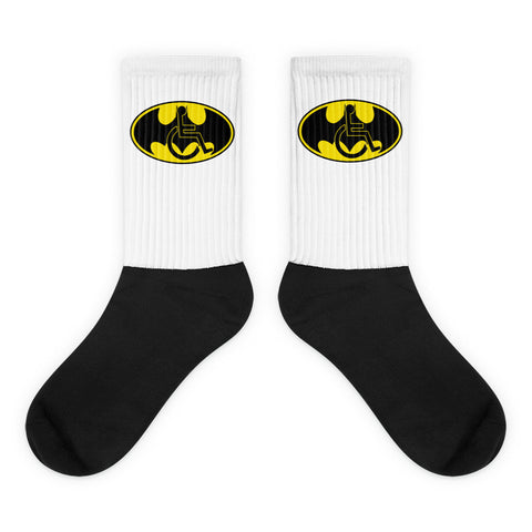Adaptive Batman Symbol Black Foot Socks