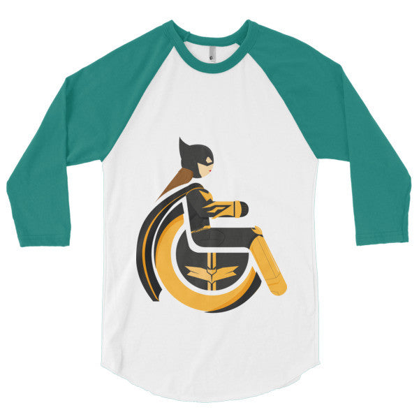 Men's Adaptive Batgirl 3/4 Sleeve Raglan Shirt