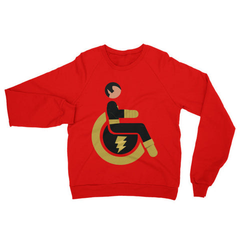Adaptive Black Adam Raglan Sweater