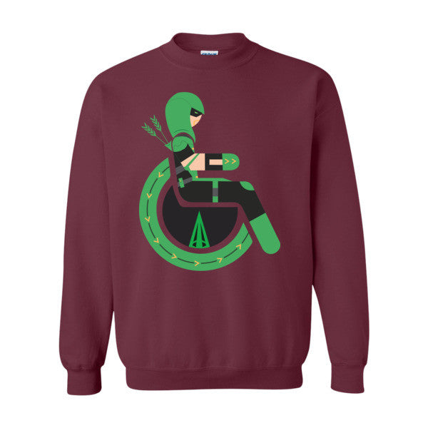 Men's Adaptive Green Arrow Crewneck Sweatshirt
