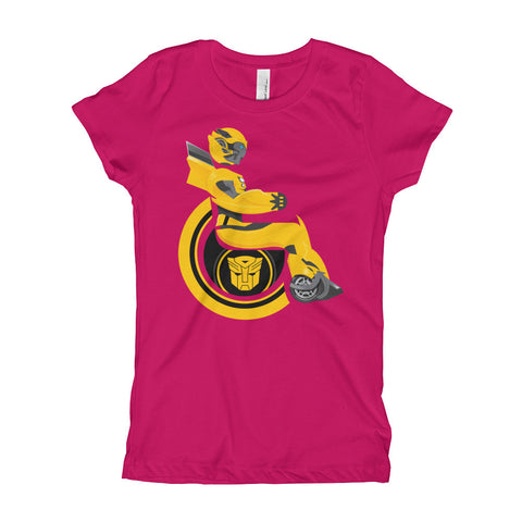 Girl's Youth Adaptive Bumblebee T-Shirt (XS-XL)