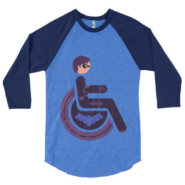 Men's Adaptive Nightwing 3/4 Sleeve Raglan Shirt
