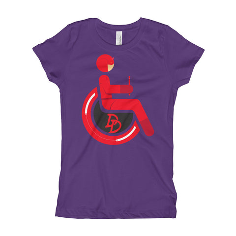 Girl's Youth Adaptive Daredevil T-Shirt (XS-XL)