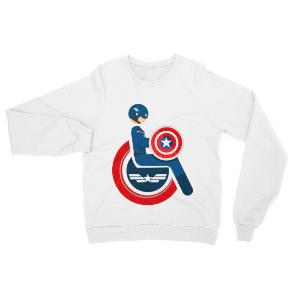 Adaptive Captain America Raglan Sweater