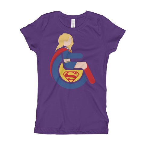 Girl's Youth Adaptive Supergirl T-Shirt (XS-XL)