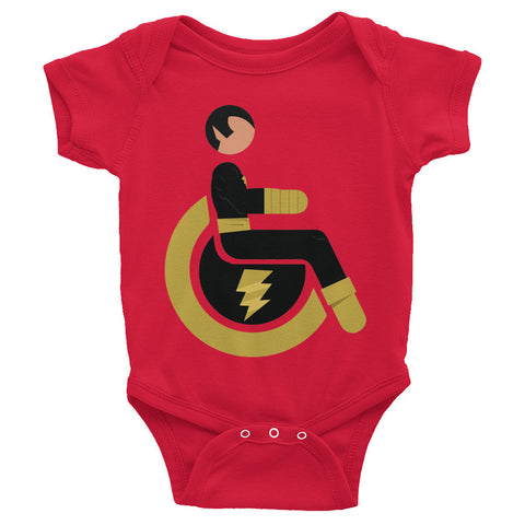 Adaptive Black Adam Baby Onesie