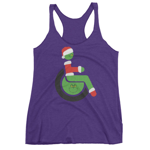 Women's Adaptive Grinch Tank Top (XL)