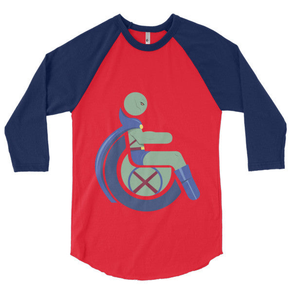 Men's Adaptive Martian Manhunter 3/4 Sleeve Raglan Shirt
