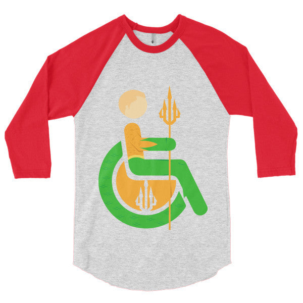 Men's Adaptive Aquaman 3/4 Sleeve Raglan Shirt