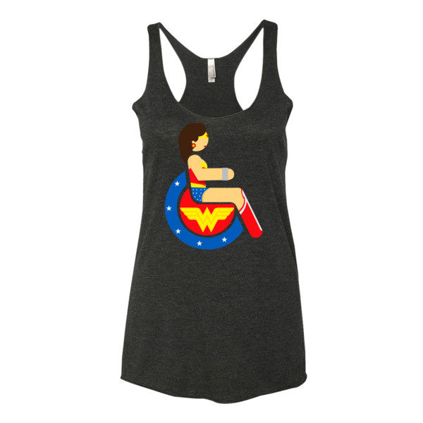 Women's Adaptive Wonder Woman Tank Top (XS-L)