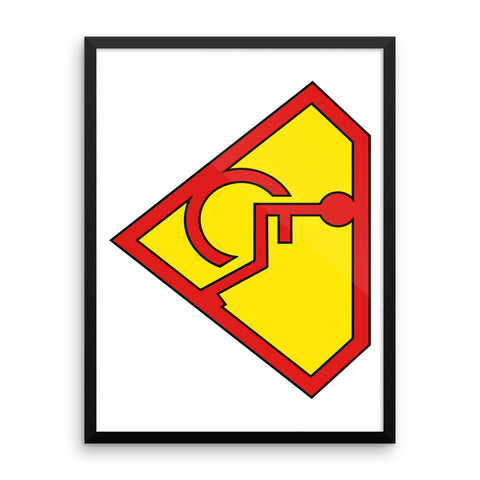 Adaptive Superman Symbol 18x24 Framed Photo Paper Poster