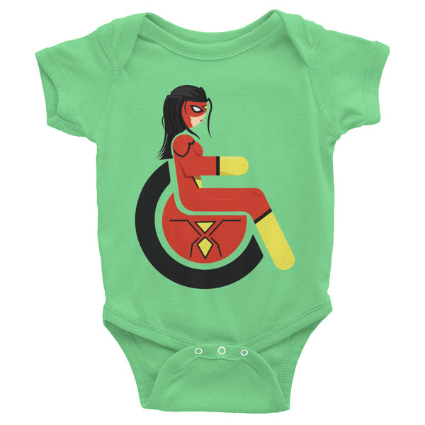 Adaptive Spider-Woman Baby Onesie